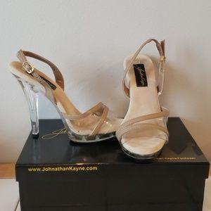 "Johnathan Kayne Taupe 4"" Heels Size 7.5"